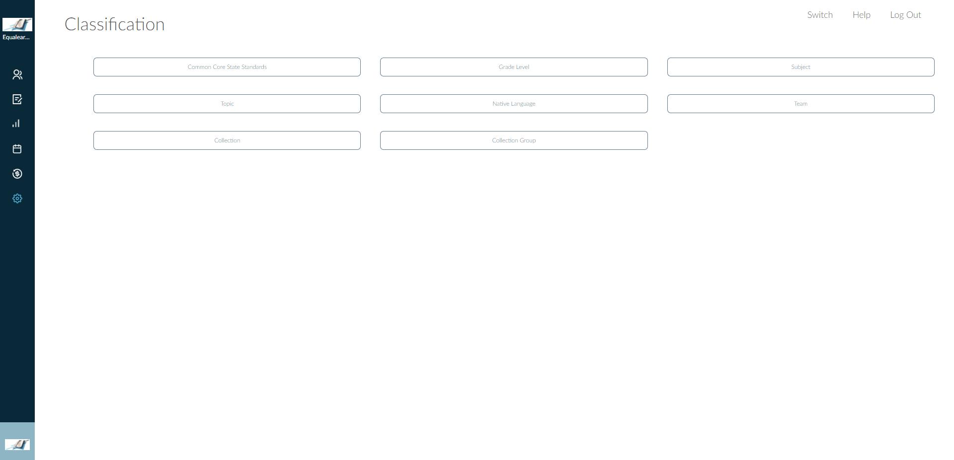 EQL-LMS-admin-classification-feature