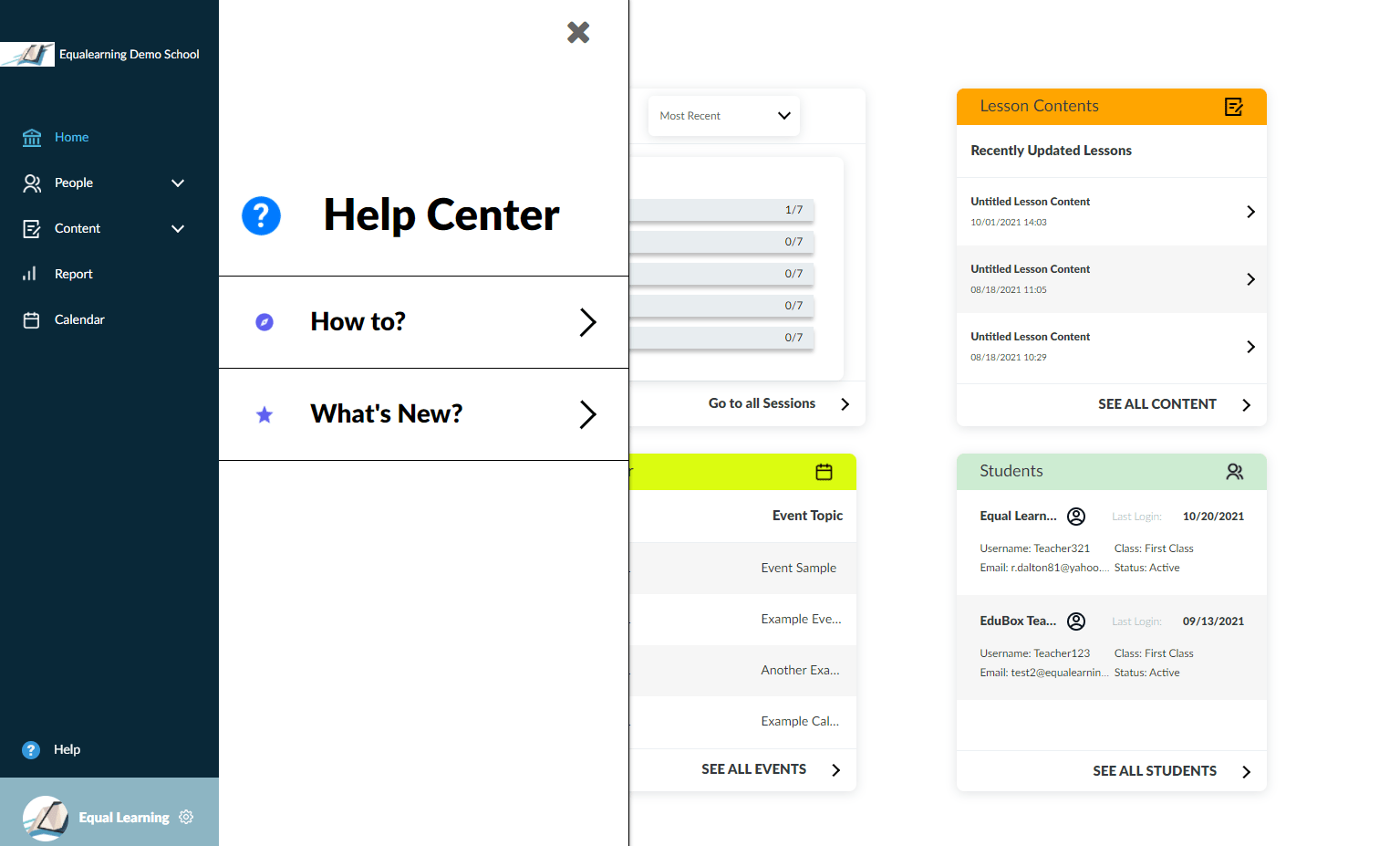 Equalearning Help Files Update 1
