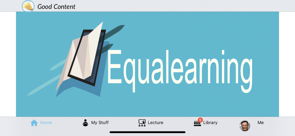 Equalearning-student-app-view
